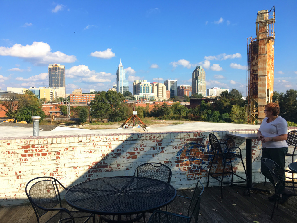 Raleigh, North Carolina, from the vantage of Boylan Bridge Brewpub. Photo © Ben Young Landis.